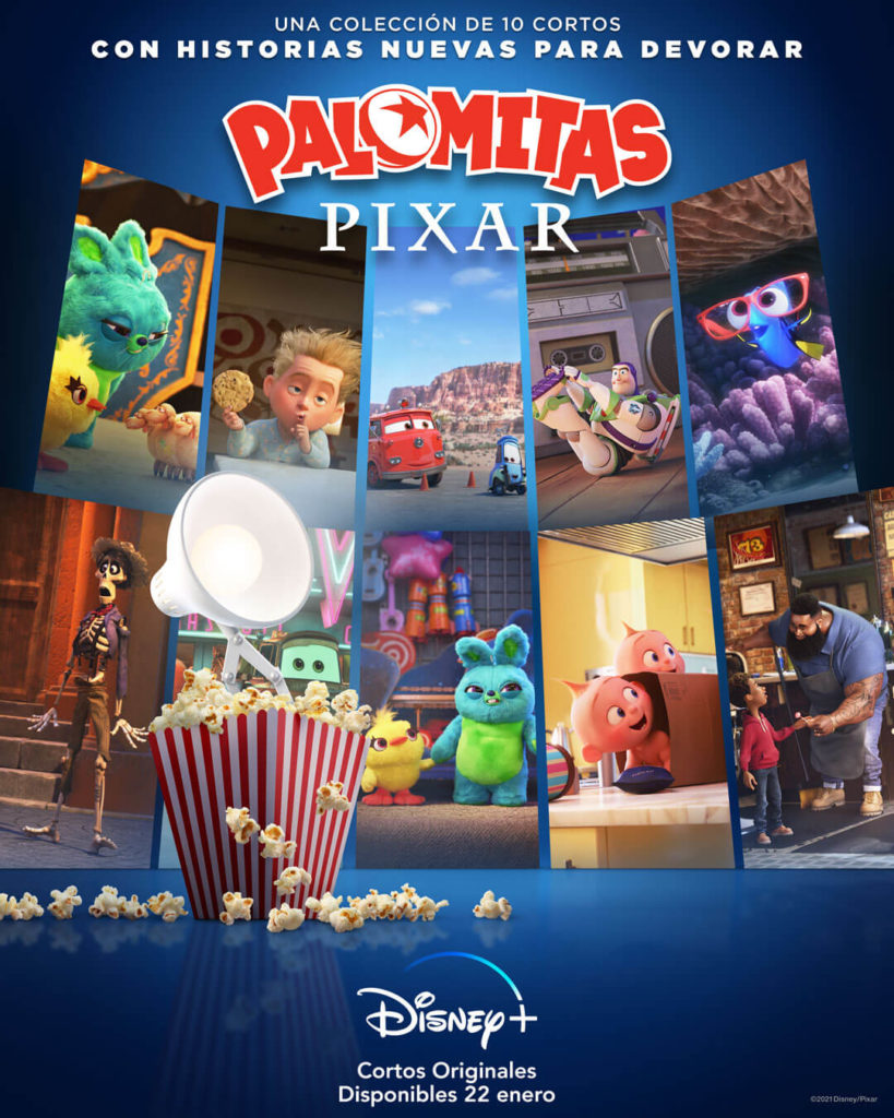 Cartel de la serie de Disney+ 'Palomitas Pixar'