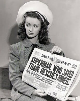 Noel Neill, en la serie 'The adventures of Superman'